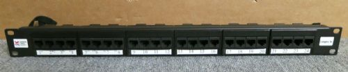 "Connectix Category 5e 24 Port RJ45 1U 19"" Patch Panel Black"